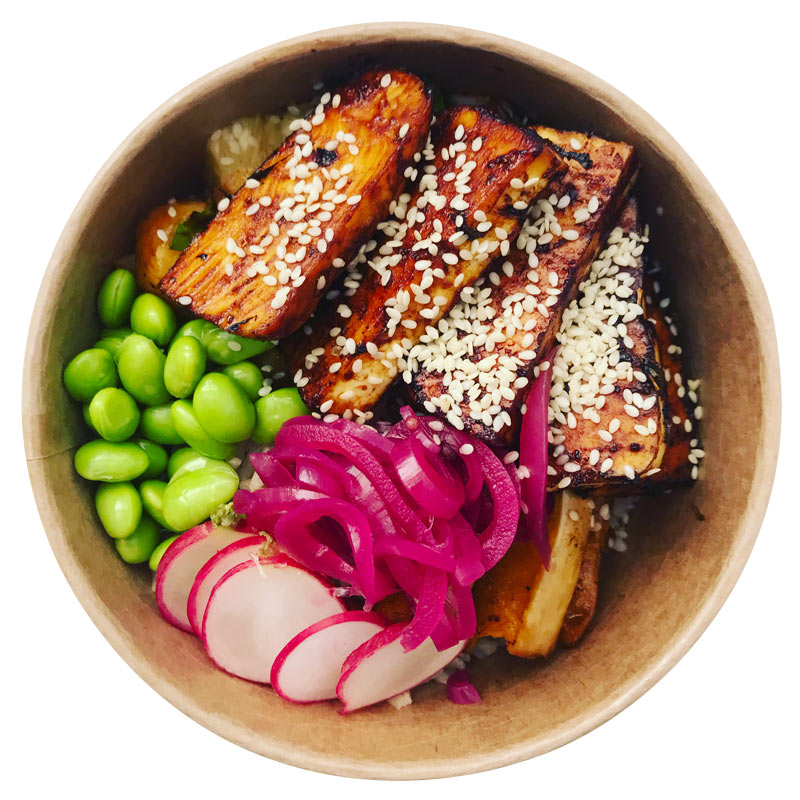 Poké bowl food healthy delivery to Porthleven, Helston, Hayle and Long Rock Cornwall