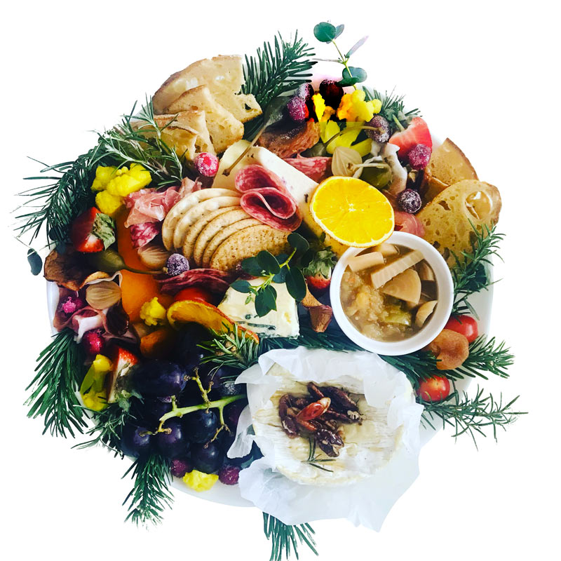 Cheese & Charcuterie platter board delivery take away Porthlevan Helston St Ives Cornwall