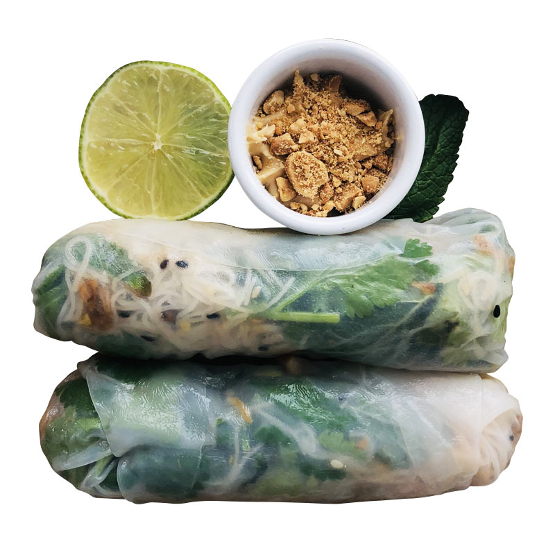 Vietnamese Spring Rolls healthy food delivery Porthlevan St Ives Helston Poké Food Cornwall